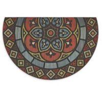 """Mohawk Home® Venetian Renaissance Slice 23"""" x 35"""" Rubber Door Mat"""