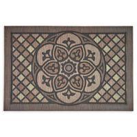 """Mohawk Home® Doorscapes Venetian Walk Medallion 23"""" x 35"""" Rubber Door Mat"""