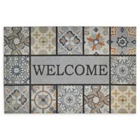 "Mohawk Home® Doorscapes Patina Tiles Welcome 23"" x 35"" Rubber Door Mat"