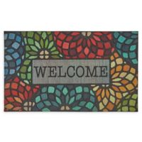 "Mohawk Home® Doorscapes Stained Glass Floret Welcome 18"" x 30"" Rubber Door Mat"