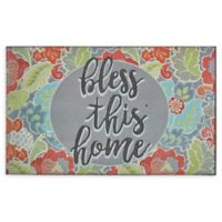 "Mohawk Home® Jacobean Frills Bless This Home 18"" x 30"" Rubber Door Mat"