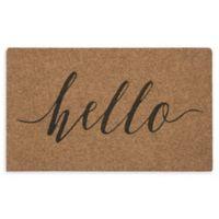 """Mohawk Home® Grand Terrace Calligraphy Hello 18"""" x 30"""" Door Mat"""