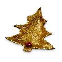 Julia Knight® Holly Sprig Petite tree Bowl in Gold