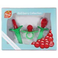 RaZbaby 3-Pack Teething Gift Set in Red/Green