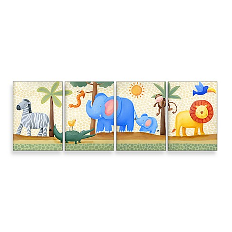 Jungle Friends II Wall Hanging (Set of 4)