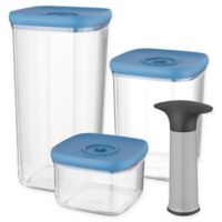 BergHOFF® Leo 4-Piece Vacuum Food Storage Containers with Lids Set in Blue