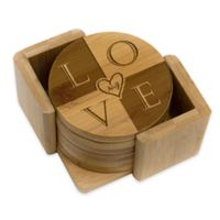 """Stamp Out Round """"Love"""" Coasters (Set of 6)"""