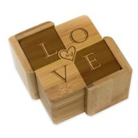 "Stamp Out Square ""Love"" Coasters (Set of 6)"