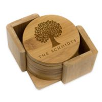 Stamp Out Round Tree Coasters (Set of 6)