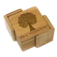 Stamp Out Square Tree Coasters (Set of 6)