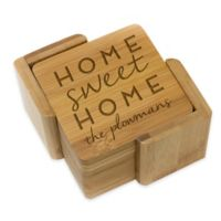 Stamp Out Square Home Sweet Home Coasters (Set of 6)