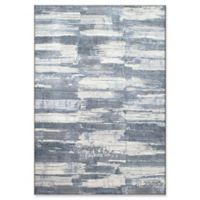 """Dynamic Rugs® Fribourg 6'7"""" X 9'6"""" Powerloomed Area Rug in Blue"""