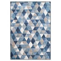 "Dynamic Rugs® Geneva 3'11"" X 5'7"" Powerloomed Area Rug in Blue/multi"