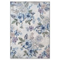 "Dynamic Rugs® Lugano 3'11"" X 5'7"" Powerloomed Area Rug in Cream/blue"
