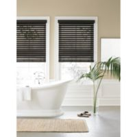Real Simple® Faux Wood 27-Inch by 72-Inch Window Blind in Black Walnut
