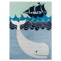 Momeni Whale's Tail 3' x 5' Hand-Tufted Area Rug in Blue