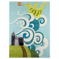 Momeni Fairytale Dragon 3' x 5' Hand-Tufted Area Rug in Sky