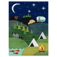 Momeni Camping 5' x 7' Hand-Tufted Area Rug in Blue