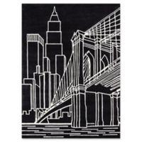 Momeni Brooklyn Bridge 2' x 3' Hand-Tufted Accent Rug in Black