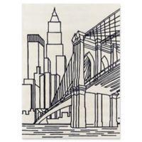 Momeni Brooklyn Bridge 3' x 5' Hand-Tufted Area Rug in Ivory