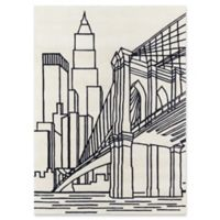 Momeni Brooklyn Bridge 4' x 6' Hand-Tufted Area Rug in Ivory