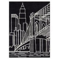 Momeni Brooklyn Bridge 4' x 6' Hand-Tufted Area Rug in Black