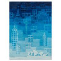 Momeni Urban Landscape 3' x 5' Hand-Tufted Area Rug in Blue