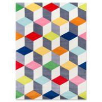 Momeni Cubes 5' x 7' Hand-Tufted Multicolored Area Rug