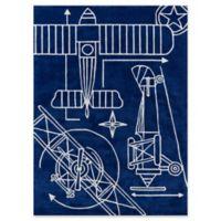 Momeni Blueprint 8' x 10' Hand-Tufted Area Rug in Navy
