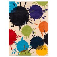 Momeni Paintball 4' x 6' Area Rug in Ivory
