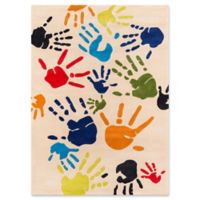 Momeni Finger Paint 2' x 3' Accent Rug in Ivory