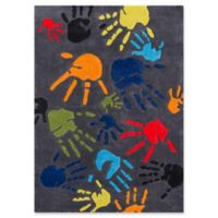 Momeni Finger Paint 2' x 3' Accent Rug in Grey
