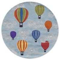 Momeni Hot Air Balloons 5' Round Multicolor Area Rug