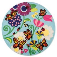Momeni Butterfly 5' Round Multicolor Area Rug