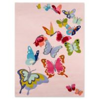 Momeni Butterfly Flutter 2' x 3' Accent Rug in Pink