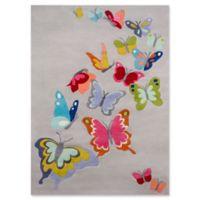 Momeni Butterfly Flutter 4' x 6' Area Rug in Grey