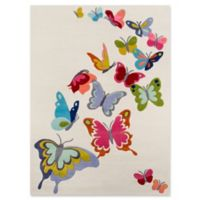 Momeni Butterfly Flutter 5' x 7' Area Rug in Ivory