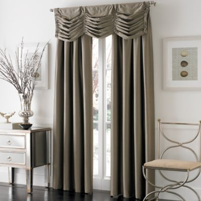 otello honeycomb 63inch pinch pleat window curtain panel in bronze