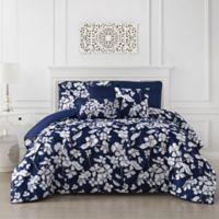 Jacqueline 6-Piece Reversible Full/Queen Comforter Set in Navy