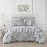 Jacqueline 6-Piece Reversible Full/Queen Comforter Set in Light Grey