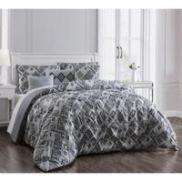 Germaine 5-Piece Reversible Twin Comforter Set in Grey
