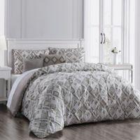Germaine 6-Piece Reversible Full/Queen Comforter Set in Taupe