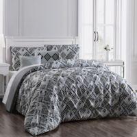 Germaine 6-Piece Reversible Full/Queen Comforter Set in Grey