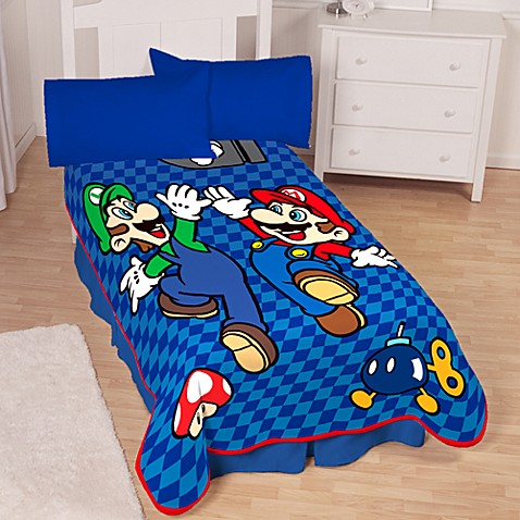 Buy Super Mario Bros 174 Twin Blanket From Bed Bath Amp Beyond