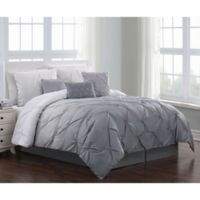 Bergen 6-Piece Reversible Twin Comforter Set in Grey