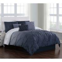 Bergen 6-Piece Reversible Twin Comforter Set in Blue