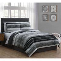 Laken 5-Piece Twin Comforter Set in Black