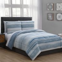 Laken 7-Piece Twin Comforter Set in Blue