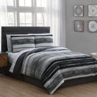 Laken 7-Piece Queen Comforter Set in Black
