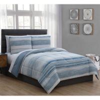 Laken 7-Piece King Comforter Set in Blue